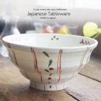 和食器 絶品野菜たっぷり丼 どんぶり 手描き赤絵 レッド ボウル 陶器 うつわ おうち 食器