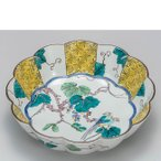九谷焼 7号鉢 吉田屋ぶどうに鳥 日本製 ギフト うつわ 陶磁器