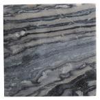 (業務用・正角皿)天然石 20cmスクエアープレート グレーマーブル(入数:5)