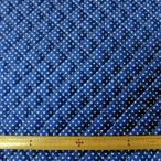 キルト両面撥水生地(FSG600) ピンドット柄/ブルー