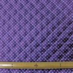 キルト両面撥水生地(FSG600) ピンドット柄/パープル