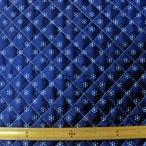 キルト両面撥水生地(FSG600) 小模様/ブルー