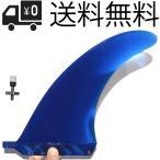 """8"""" ブルー SOFT FLEXフィン センターフィン Blue ロングボード用 / パドルボード用 / airSUP 用 ステンレスフィンスクリュー付き"""