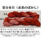 刺し子糸 【小鳥屋オリジナル】 (染分・赤系のぼかし)