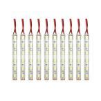 送料無料 LEDマーカー 24V 防水 10cm×10本 ホワイト トラックパーツ サイドマーカー デイライト LEDテープ ライト カスタムパーツ HINO ISUZU UD FUSO