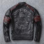 革ジャン レザージャケット メンズ 本革 バイク ライダース 牛革 シングル ショート スリムタイプ 細身 ブランド ジャケット ミリタリー レザーコート
