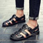 サンダル メンズ 通気 ドライビングシューズ メッシュ 夏 涼しい 透かし彫り 革靴 大きいサイズあり おしゃれ ブラック ブラウン 2色