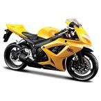 送料無料 バイク 模型 1/12 Suzuki GSX R-600 '06 バイク マイスト SportsBike スポーツバイク オンロード 黄 イエロー