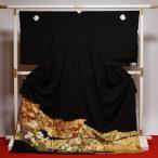 フルオーダー手縫いお仕立て付き 逸品!名門「染の北川」謹製 最高級本加工黒留袖 金彩秋の自然植物