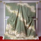 訪問着フルオーダー手縫いお仕立て付き京都「染の北川」謹製 金彩手描き最高級訪問着 レディース着物/和服/和装/準礼装/セミフォーマル身長167cmまで