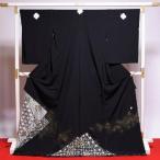 黒留袖 送料無料 フルオーダー手縫いお仕立てと五つ紋入れ付き 西陣織 山口美術織物 刺繍 身長167cmまで、裄68.5cmまで