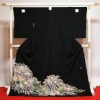 黒留袖 送料無料 フルオーダー手縫いお仕立てと五つ紋入れ付き 本加賀友禅 森田耕三作 松韻 身長168cmまで、裄69.5cmまで