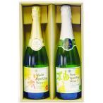 お中元ギフト2020 梨と柚子のスパークリングワインセット