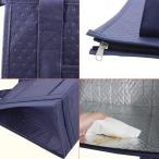保温・保冷バッグ カートバッグ ショッピングバッグ 断熱バッグ トート型 アルミインナー 防水 取っ手付き 不織布 スーパーのカートに掛けら