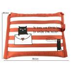 コージカンパニー ショッピングキャリー オレンジ 35×55×1cm 猫だらけ レター 161802