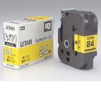 ビーポップミニ用 黄テープ/黒文字「LM-L524BY」