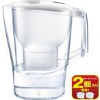 【y】 ブリタ アルーナ XL マクストラプラスカートリッジ2個付き (2.0L) 手軽で便利なポット型浄水器 日本正規品