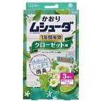 【※ zr】 [T] かおりムシューダ 1年間有効 クローゼット用 フレッシュグリーンの香り (3コ入)