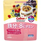 【訳あり 特価】 賞味期限:2021年5月20日 カルビー グラノーラプラス 鉄分&8種のビタミン (450g) 栄養機能食品