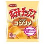 【zr】 湖池屋 Mサイズ ポテトチップス リッチコンソメ (60g)