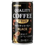 【30本セット】【1本当たり39円】サンガリア クオリティコーヒー ブラック (185g) 缶