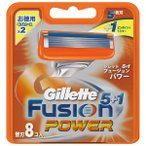 【T】 ジレット フュージョン5+1パワー 替刃(8個入)