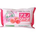 【zr】 ペリカン石鹸  アミノソープ 桃の葉 (100g) 固形石鹸