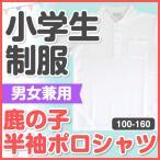 小学生 制服 鹿の子 半袖ポロシャツ 男女兼用 110cm〜160cm