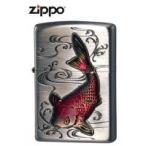 優雅に泳ぐ鯉の姿を、立体的に表現したデザイン! ZIPPO(ジッポー) ライター 鯉 63380198 喫煙グッズ