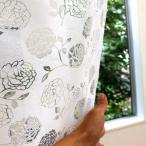 のれん 暖簾 ロゼ ローズ(バラ柄) 幅85cm×丈150cm/彫刻のような美しいシルエット。/敷物・カーテン