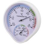 OHM 温湿度計 快適表示付き 壁掛けタイプ TEM-500-W ガーデニング・花・植物・DIY 壁掛けタイプの温湿度計。