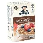 ソフトな甘さのオートミールです。 QUAKER(クエーカー) インスタントオートミール メープルブラウンシュガー 430g(10袋入)×12個セット 米・雑穀・パン・シリア