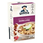 香りのよいオートミールです。 QUAKER(クエーカー) インスタントオートミール レーズン&スパイス 430g(10袋入)×12個セット 米・雑穀・パン・シリアル