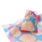 プレゼントに最適です。 文様柄シリーズ エコクロス(R)×巾着セット 菊 55-112103 和装