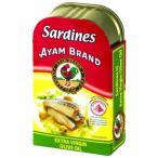 アジアの伝統料理をご家庭で! アヤム オリーブオイル サーディン 120g 24個セット A6-15 缶詰・瓶詰