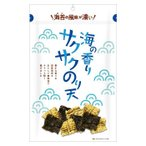 豊かな香りの海苔を使用したのり天 まるか食品 海の香りサクサクのり天 80g(10×4) スイーツ・お菓子