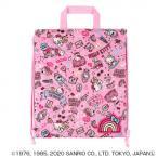 キルトナップサック ハローキティ ローズピンク 086997 バッグ 刺繍ネームワッペンで目立ち度満点!ふわふわキルトバッグ