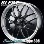 BLEST(ブレスト) ユーロスポーツ タイプ 805 アルミホイール(1本) 20x8.5 +45 114.3 5穴(セミグロスブラック) / EuroSport Type 805 20インチ