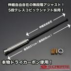 【メール便!】本物カーボン伸縮ショートアンテナ(SL)MDX/S2000/ロゴTS