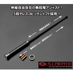 【メール便!】カーボン伸縮アンテナ(ブラックメッキ)キューブZ12/N-BOX(JF1/2)