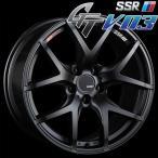 SSR GTV-03 アルミホイール(1本) 18x7.5 +48 114.3 5穴(フラットブラック) / GT ジーティー 1ピース 1PIECE 1P GTV03 18インチ