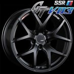 SSR GTV-03 アルミホイール(1本) 18x7.5 +53 114.3 5穴(フラットブラック) / GT ジーティー 1ピース 1PIECE 1P GTV03 18インチ