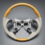 プレミオ NZT/ZRT260系 [2007/6〜] スポーツタイプ ウッドコンビステアリング (黄木目/グレージュ) / steering ハンドル ホイール