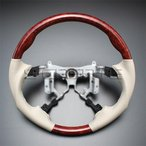 プレミオ NZT/ZRT260系 [2007/6〜] スポーツタイプ ウッドコンビステアリング (茶木目/グレージュ) / steering ハンドル ホイール