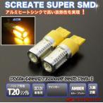 T20 LED バルブ 7.5W シングル(アンバー(オレンジ)) 2個 / SMD 5面発光 SCREATE エスクリエイト