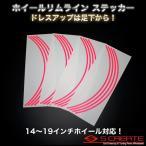 (14〜19インチ用) ホイールリムライン ステッカー (ピンク) / シール