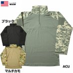 セール中 YMCLKYオリジナル 米軍タイプ コンバットシャツ長袖 ブラック ACU マルチカモ