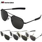 American Optical OP57 Original Pilot Sunglasses 57mm ブラック マットシルバー シルバー ゴールド