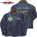 TOYS McCOY #TMJ1433 N-1 デッキジャケット コマーシャル デニム サブマリン フォース 『POLLY PELIO』 141インディゴ