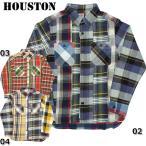 HOUSTON #40108CZ クレイジーチェック ビエラワークシャツ